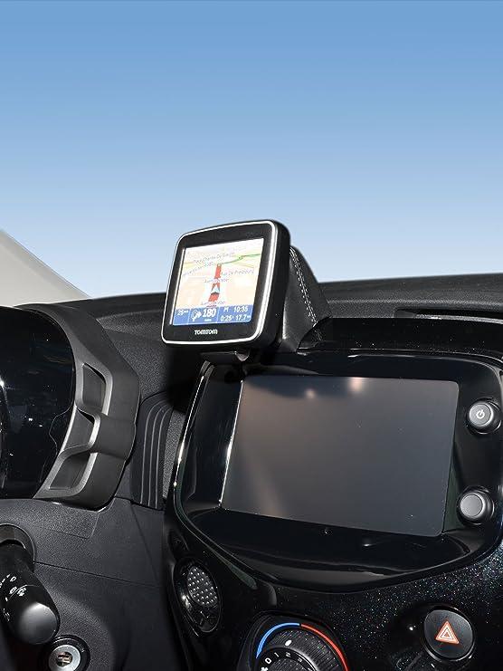 per veicoli specifici Base per navigatore LHD nero in vera pelle KUDA 7015