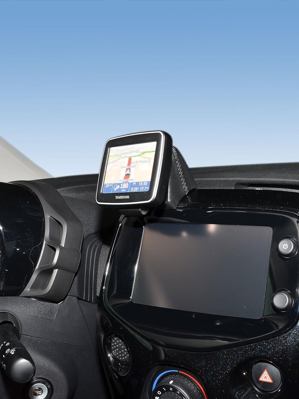 KUDA Console de navigation (LHD) pour Citroën C1/Peugeot 108/Toyota Aygo à Partir de 2014(cuir véritable noir)