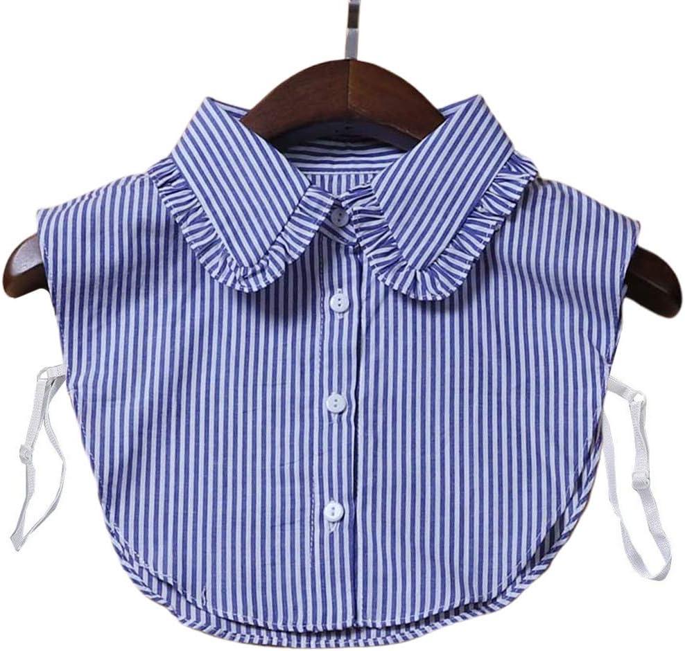 Tinaa - Camisa de Cuello para Mujer con Volantes Falsos cuellos extraíbles 6: Amazon.es: Hogar