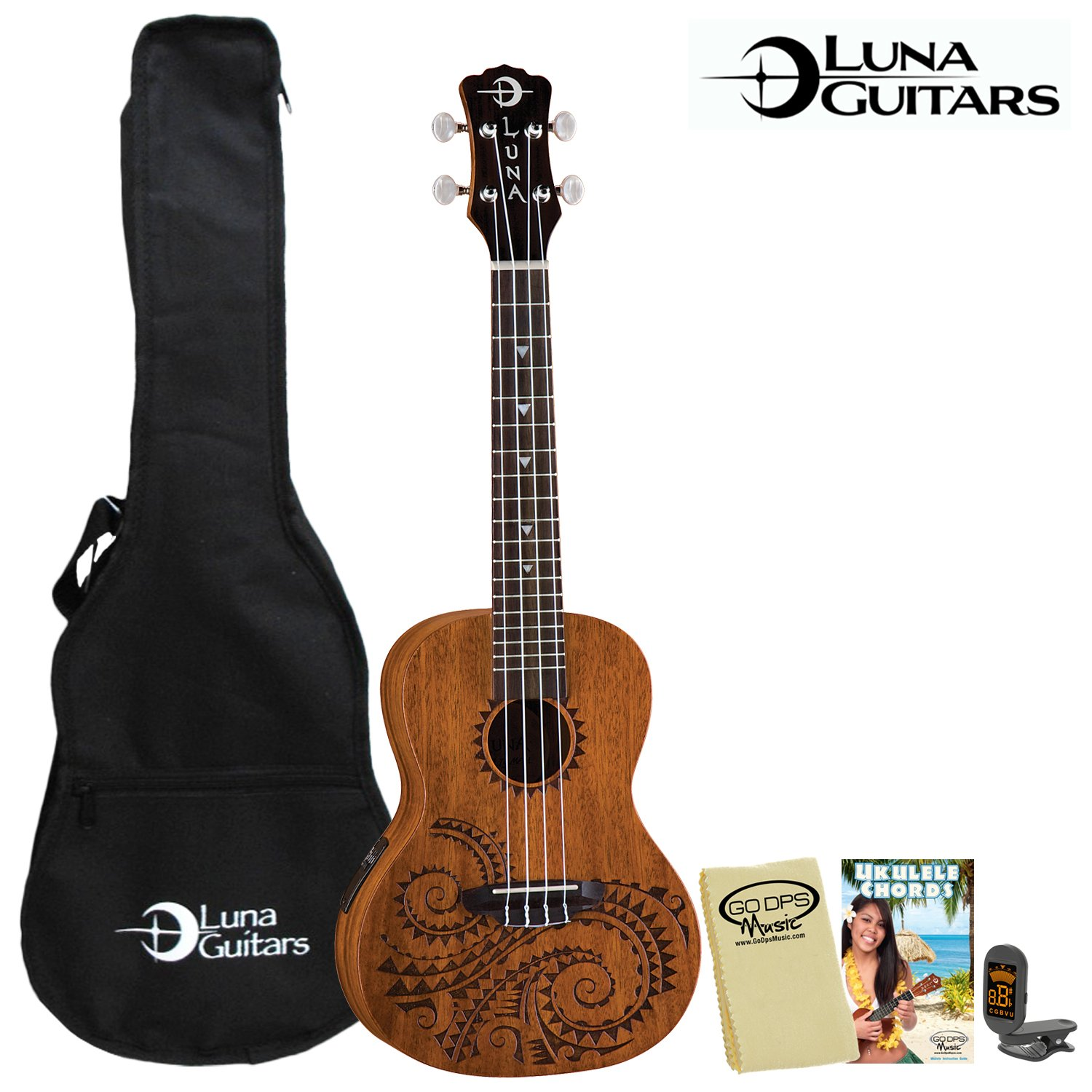 luna guitars uke tec mah kit 1 tattoo concert electric