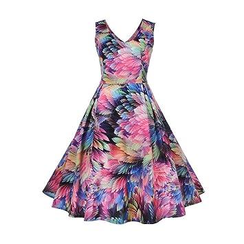 Wawer 1950s Vintage A-Line Hepburn Dress ,Vintage Swing Dress, Casual Retro Printing