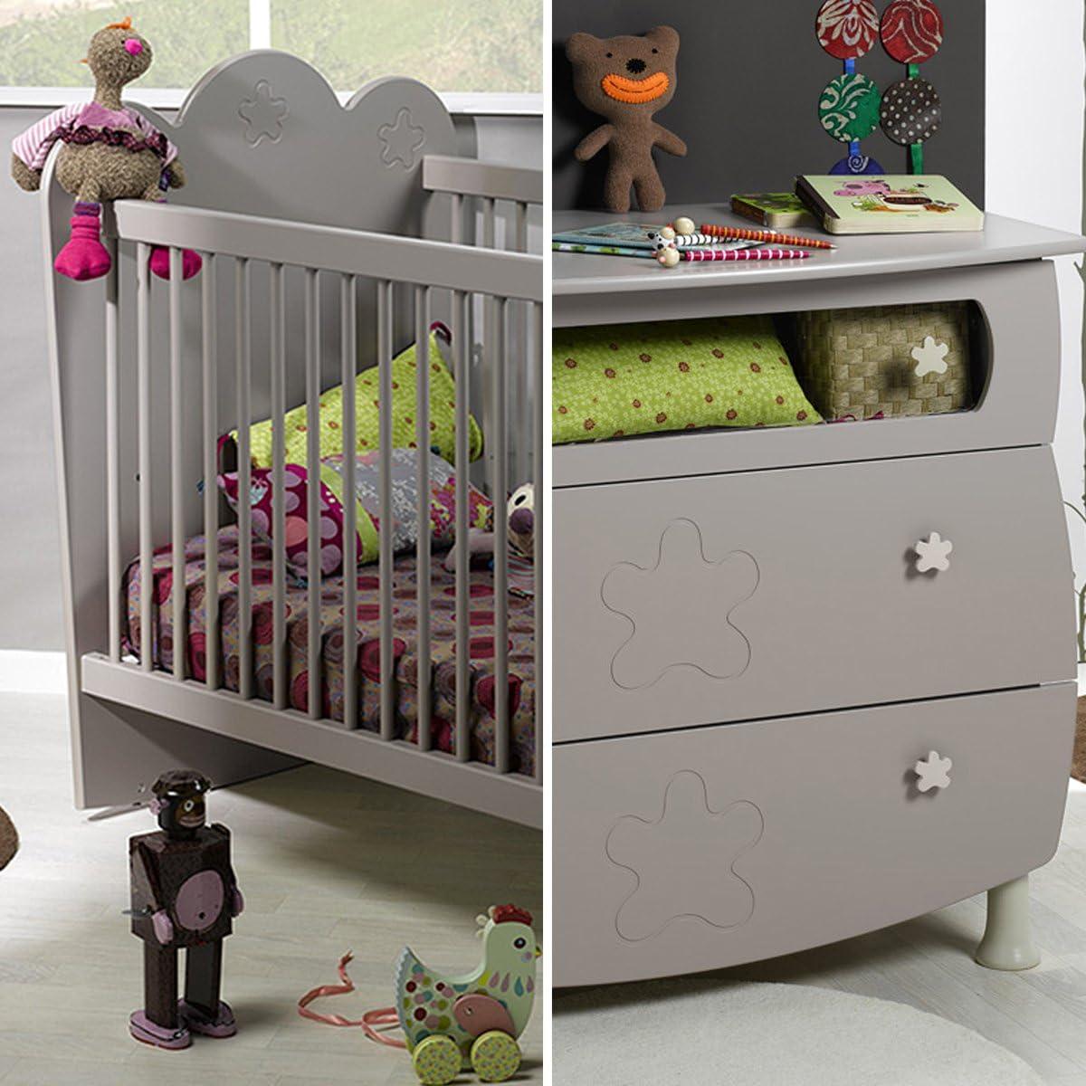 Bebé de cuna 60 x 120 y cómoda cambiador bebé Provence Linéa – Lin: Amazon.es: Bebé
