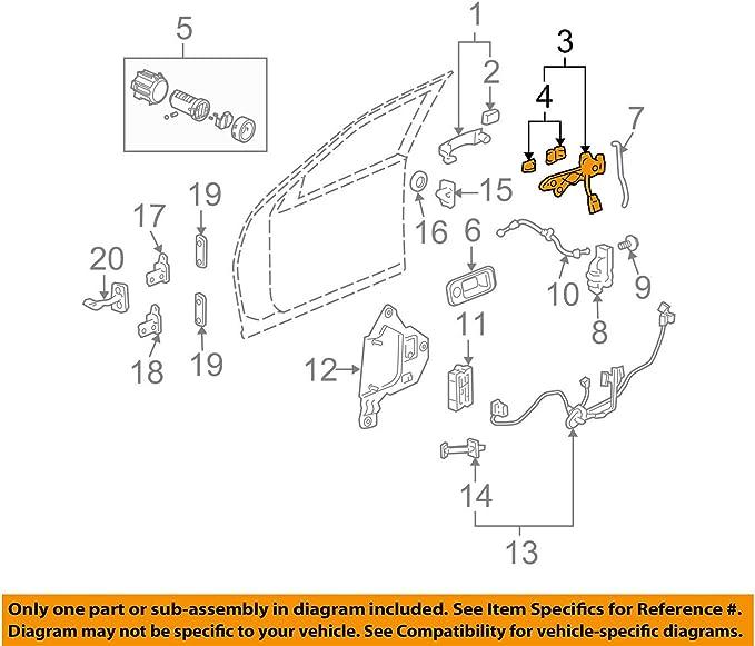 Genuine GM Housing Kit-Frt S//D O//S Hdl 25864472