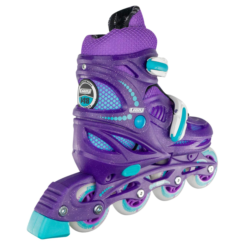 Crazy Skates Adjustable Inline Skates for Girls – Beginner Kids Rollerblades Model 148