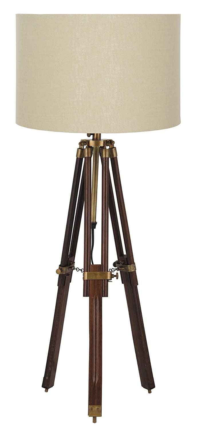 Pacific Lighting 867 AB Wood Tripod Table Lamp Base Only, Dark:  Amazon.co.uk: Kitchen U0026 Home