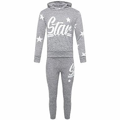 71435c149 Amazon.com  MA ONLINE Kids Star Logo and Motif Print Loungewear ...