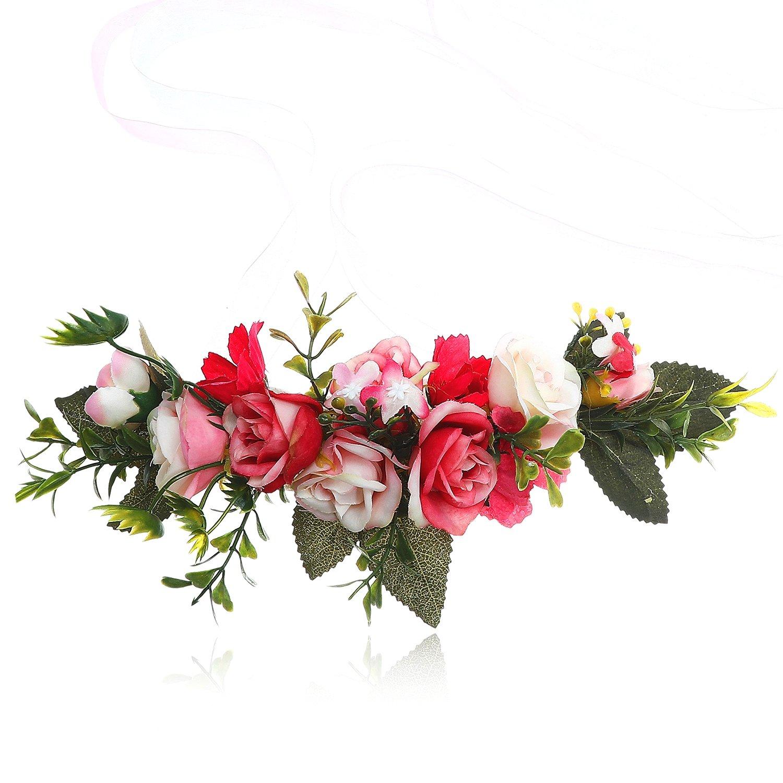 Hot Sale Flower Crown Headband Floral Headpiece Awaytr Women Girl