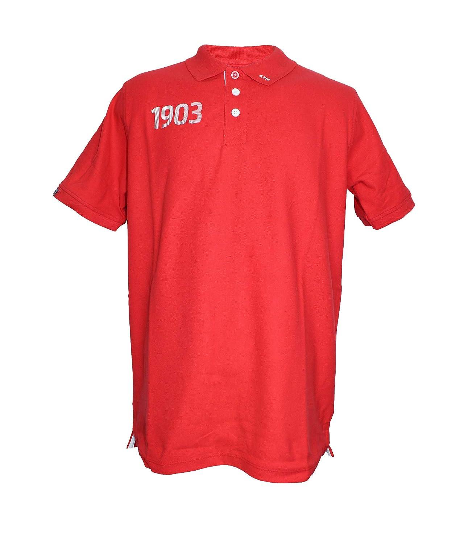 Atlético de Madrid Polo Rojo - 1903 Blanco con Escudo Nuevo en la ...