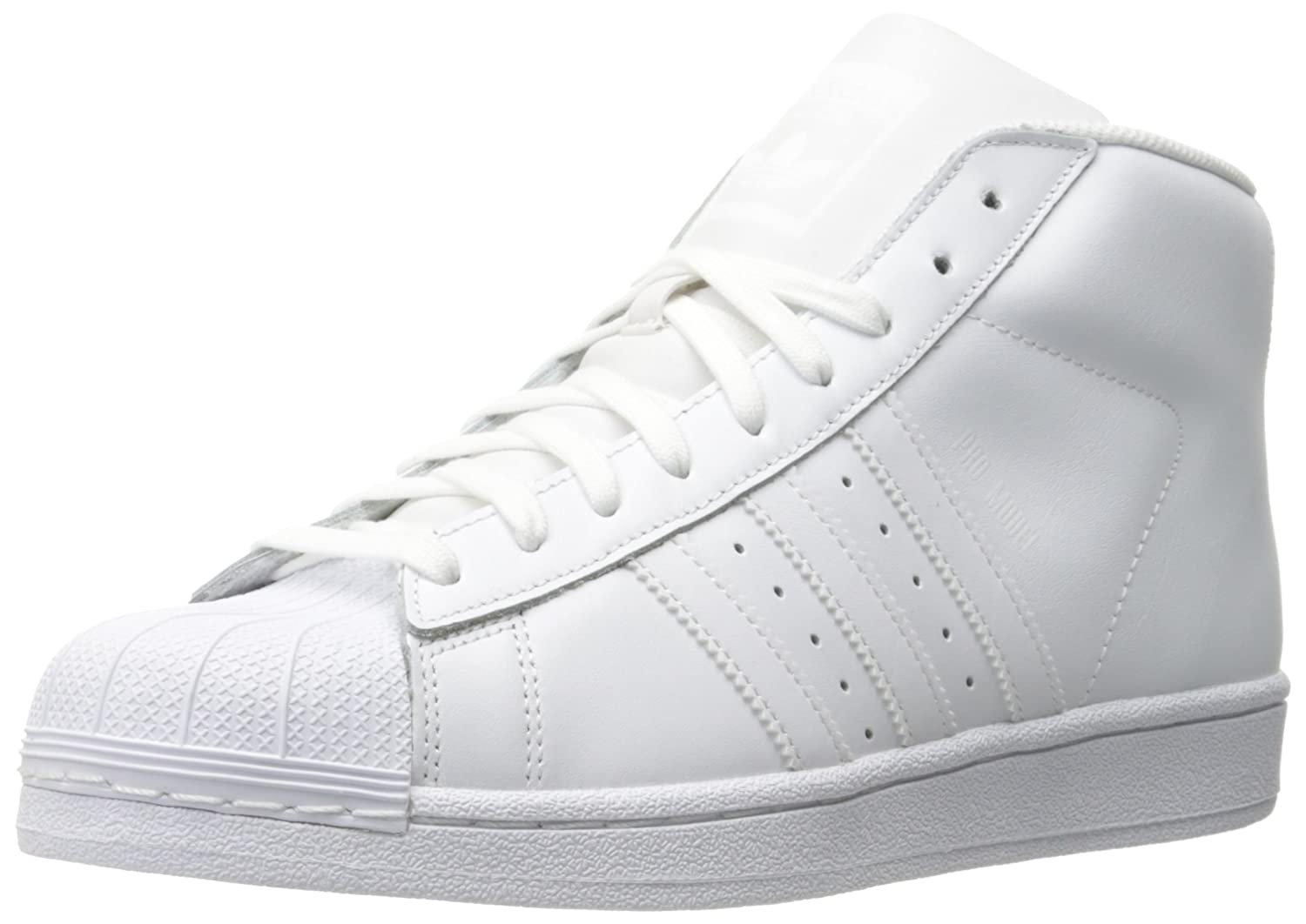Adidas Mens Trainers Pro Model Leather Trainers Mens 45 1/3 EU|Blanc 69b827