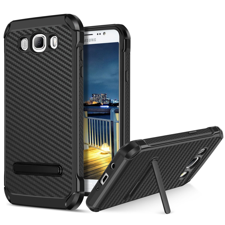 online store c02da 4c8e4 Galaxy J7/J710 Case(2016 Version),BENTOBEN Non-Slip Carbon Fiber Texture  Design Scratch Resistant Shockproof Dual Layer Heavy Duty Rugged Protective  ...