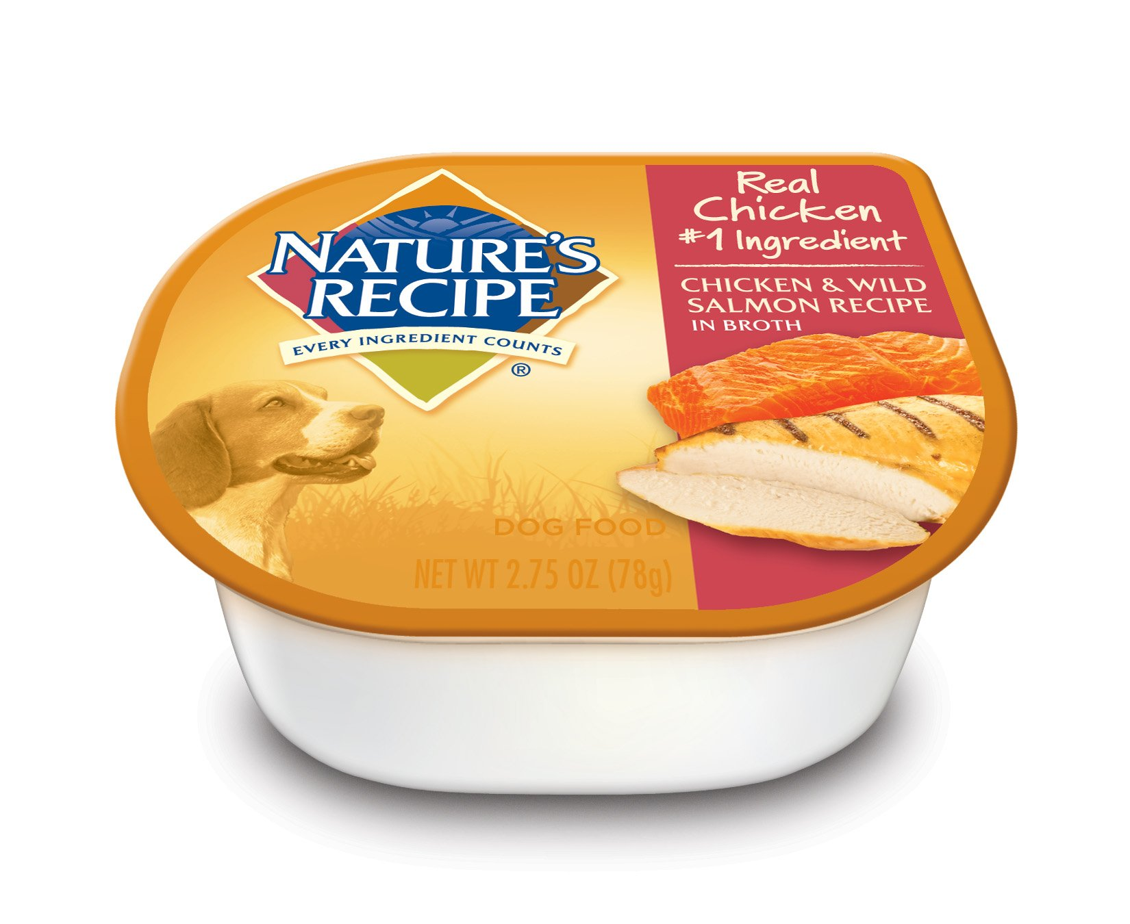 Nature's Recipe Wet Dog Food, Chicken & Wild Salmon Recipe In Broth, 2.75-Ounce Cup (Pack of 24) by Nature's Recipe
