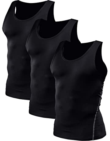 8947f62f348a9 Neleus Men s 3 Pack Athletic Compression Under Base Layer Sport Tank Top