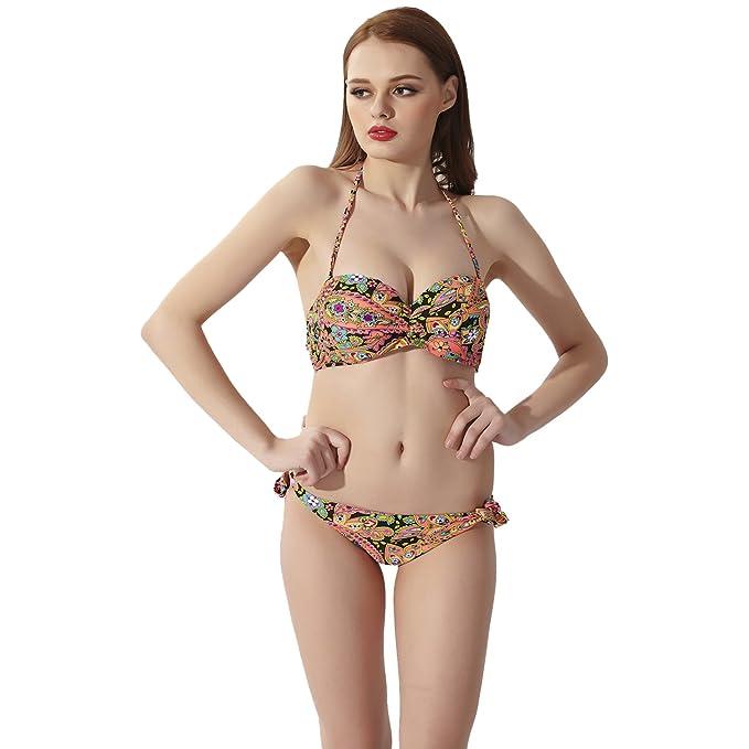 Sidiou Group Dos Piezas Bikini Conjuntos Traje de Baño Mujer ...