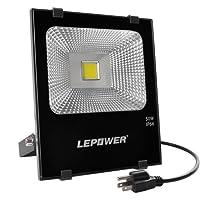 50W New Craft LED Flood Lights, Super Bright Outdoor Work Light, 250W Halogen Bulb Equivalent, IP66 Waterproof, 4000Lm, 6500K,  Outdoor Floodlight for Garage, Garden, Lawn and Yard ( White Light)