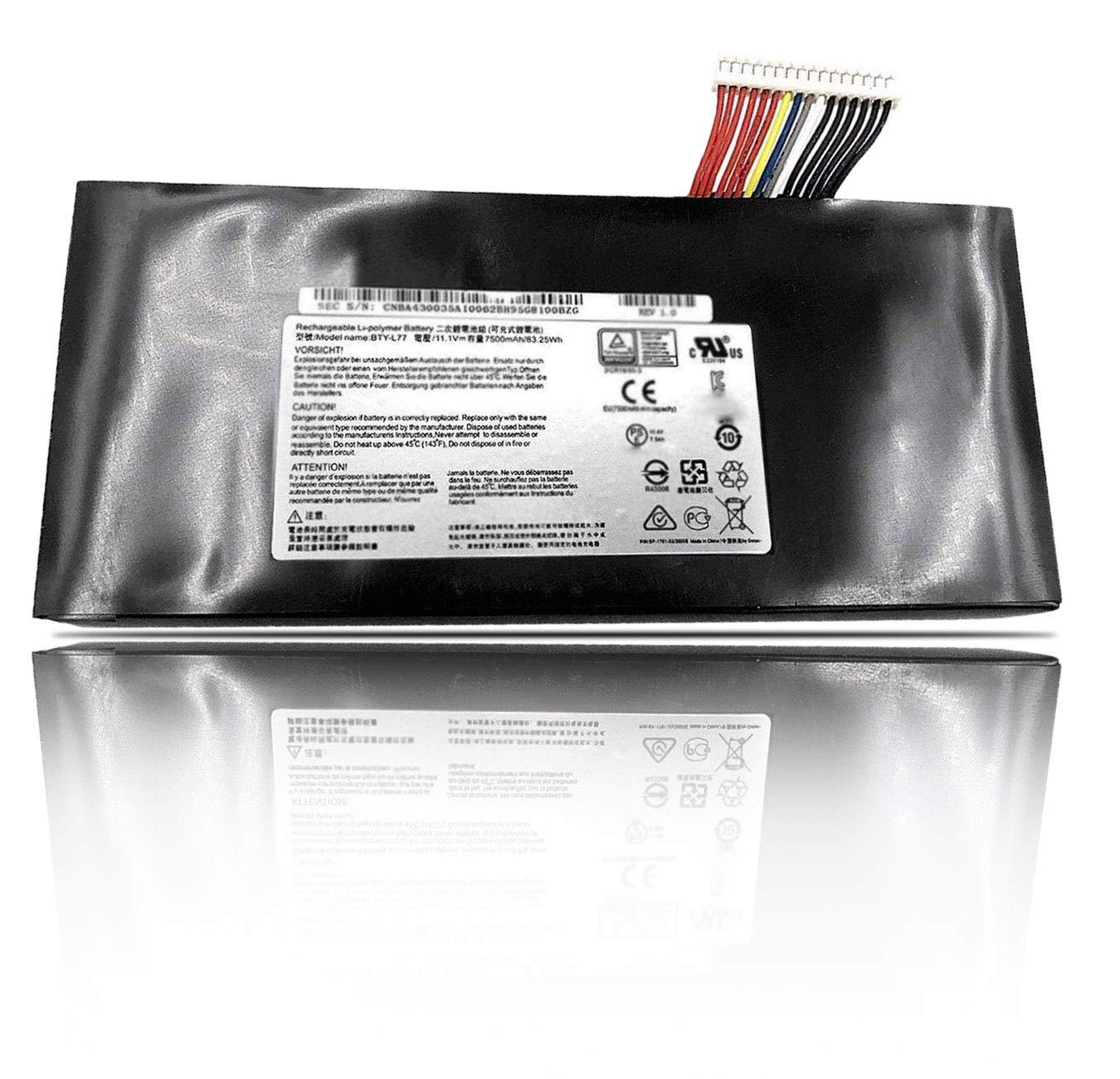 Bateria 11.1V 7500mAh 83.25wh 9 Celdas MSI BTY-L77 MSI GT72