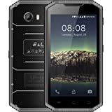 E&L Proofings W7 IP68 Wateproof Rugged 4G Smartphone 5.0 inch Android 6.0 Dual SIM Outdoor Unlock Cellphone (BlackGray)