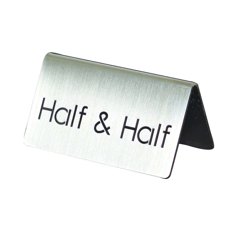 Service Ideas 1C-BF-HALF&HALF-MOD ID Tent''Half & Half'', Brushed