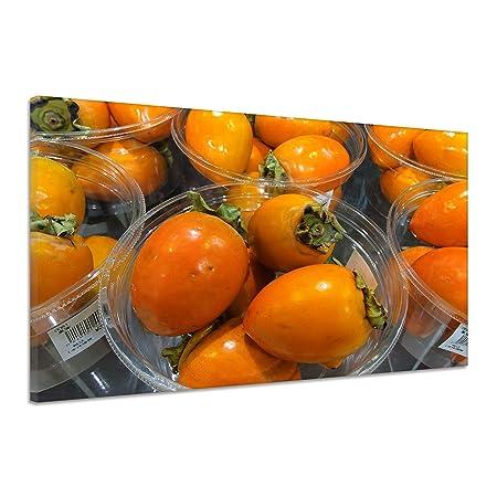 Kaki de fruta comida Cocina cosecha vitaminas Lienzo Póster ...