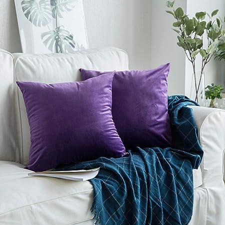 Coussin oreiller Housse Coussin en brillant-design couleur violet