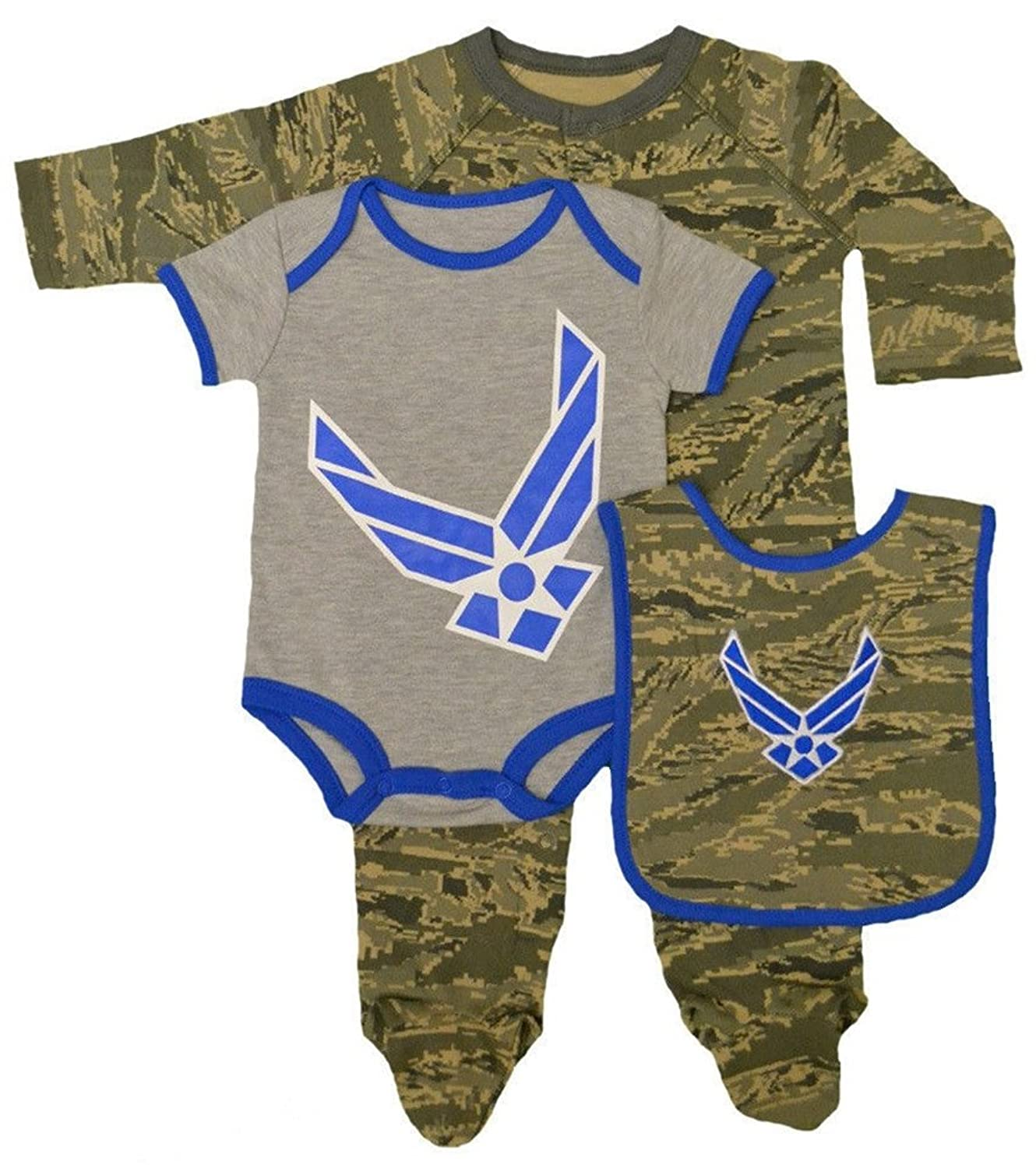 Amazon Baby Infant Toddler 3pc Abu Air Force Bib Outfit