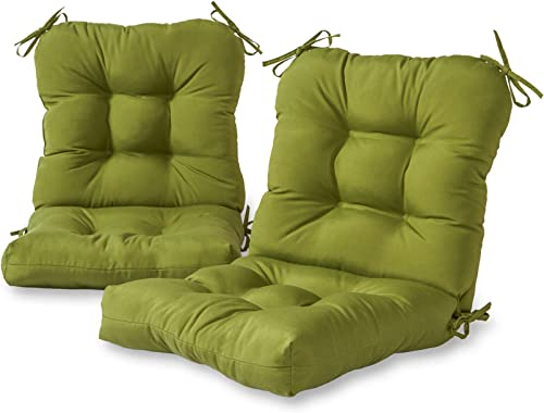 Greendale Home Fashions Outdoor Seat Back Chair Cushion set of 2 , Hunter