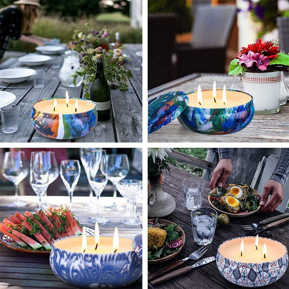 Camping 3 Pieces-2 OFUN Lot de 3 Pieces Citronella Bougie dint/érieur Anti-moustiques pour Jardin r/éunion de Famille Pique-Nique terrasse