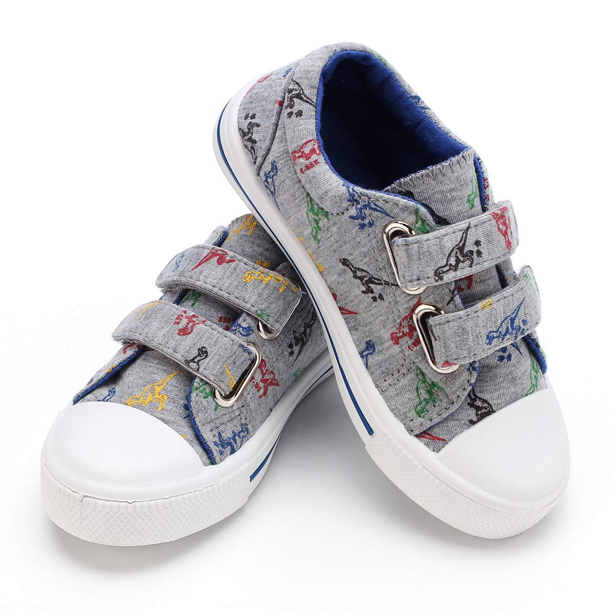 KomForme Toddler Kids Boy Girl Toddler Sneakers Cartoon Dual Hook and Loops Baby Sneakers Shoes