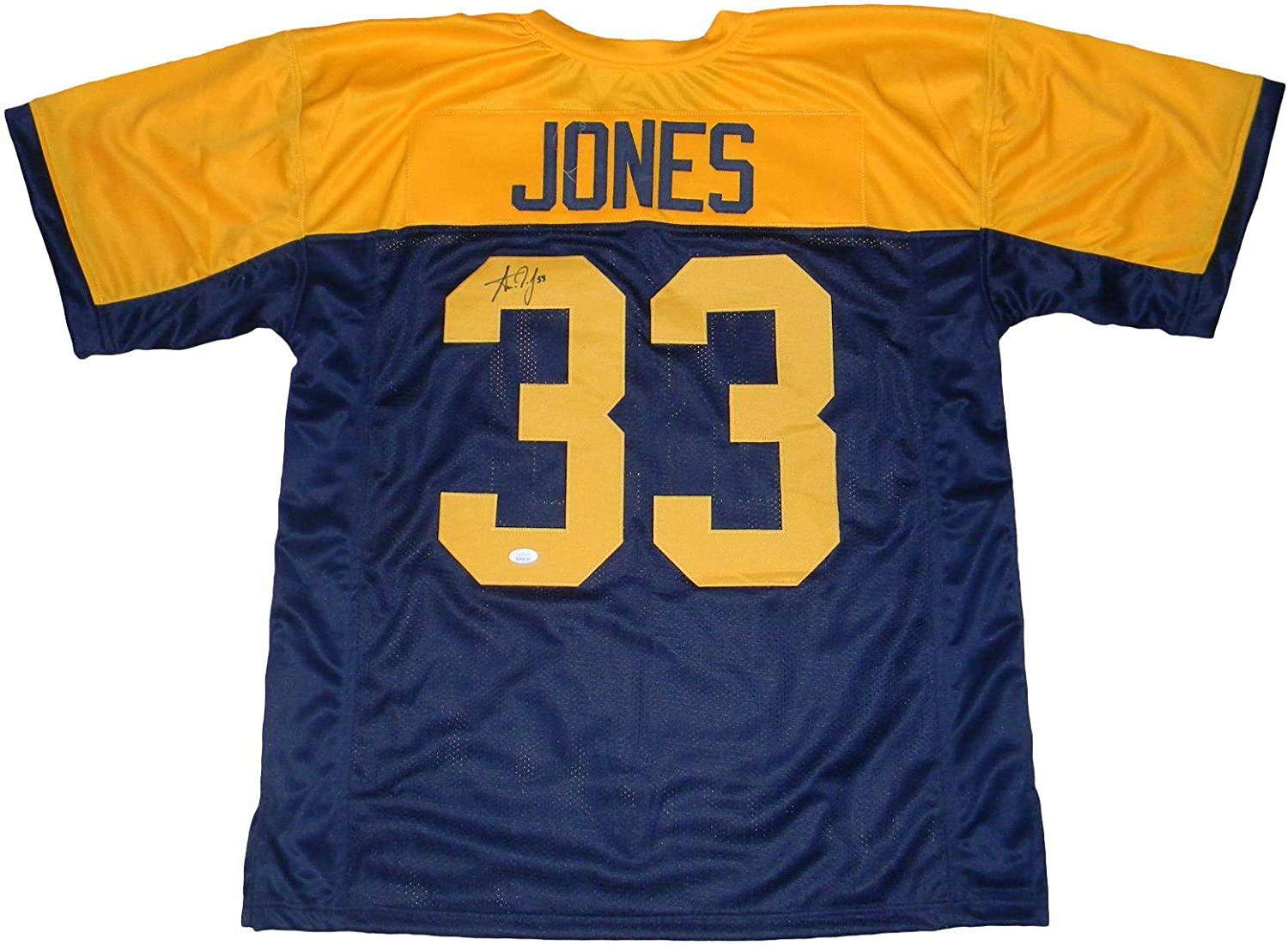 Aaron Jones Autographed Signed Green Bay Packers 33 Throwback Jersey Jsa Autographed Nfl Jerseys At Amazon S Sports Collectibles Store