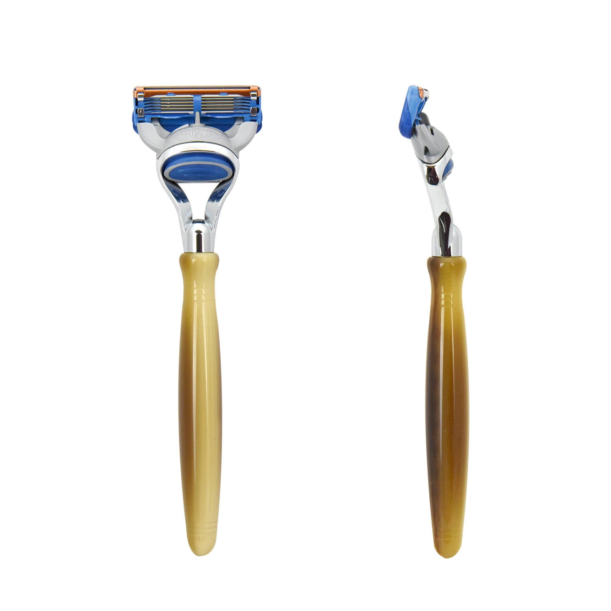 Horn Fusion Shaving Razor Handle by Boss Razors