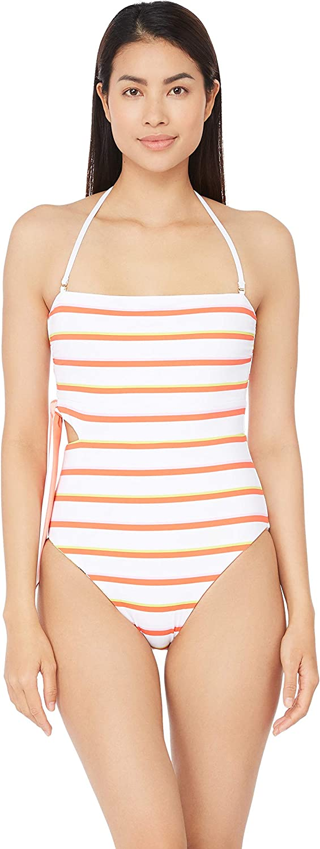 Trina Turk Womens Bandeau One Piece Swimsuit