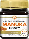 RAW MANUKA HONEY MGO 820+ (NPA 20+) 8.8oz (250g) Medicinal Strength - Highest Certified Rating - BPA Free Jar - Cold…