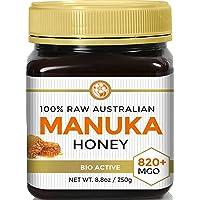 Manuka Honey MGO 820+ (NPA 20+) Highest Grade Medicinal Strength Manuka With Antibacterial Activity - Raw, Certified - 250g by Good Natured