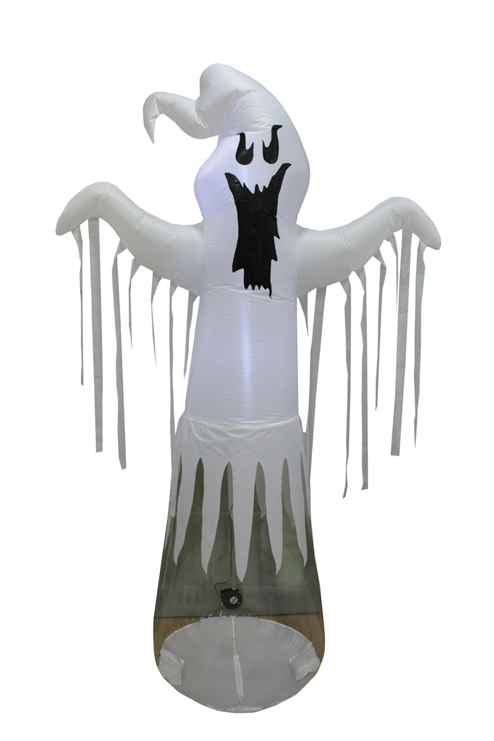 Sheerlund Inflatable Floating Ghost Halloween Decoration with Internal LED Lights - 8 Ft Tall, Approved for Indoor or Outdoor Use