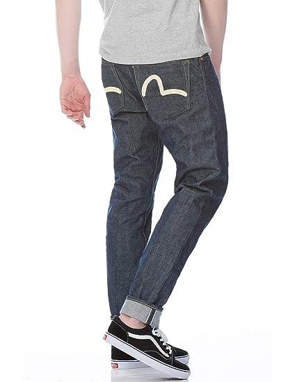 fda470ed21dc Amazon.com  Evisu Carrot-fit Hand-Painted Seagull Selvedge Denim Jeans   Sports   Outdoors