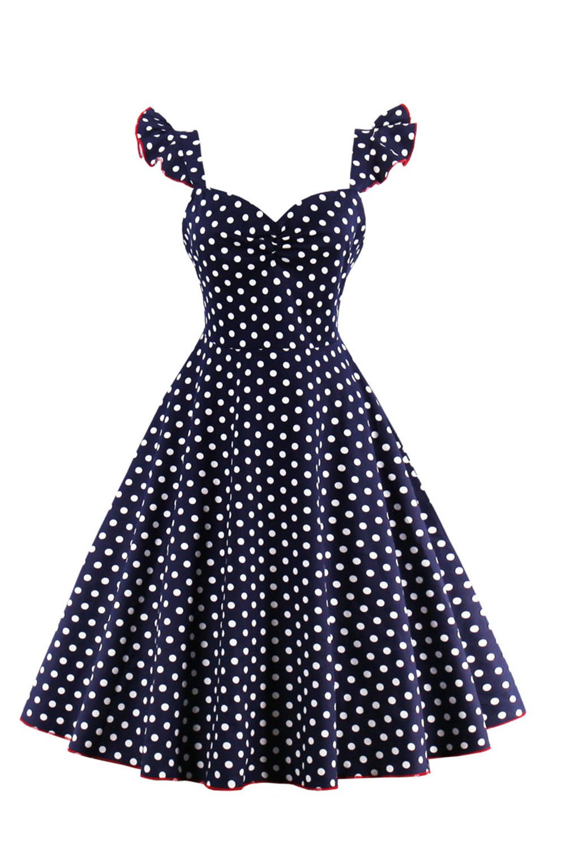 Vestido de mujer Vintage años 50 lunares Swing Rockabilly Retro ...