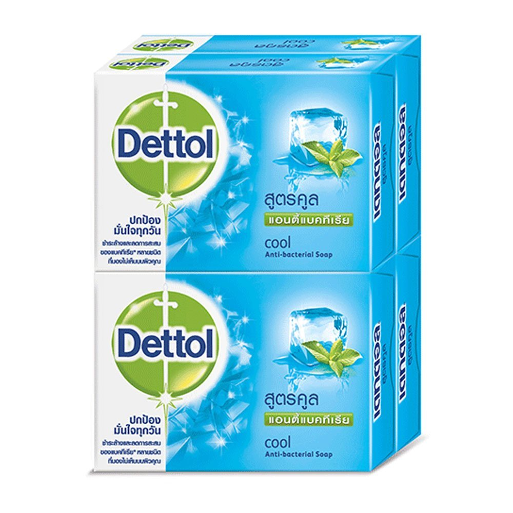 Dettol Anti-bacterial Soap Cool 65 g.Pack 4 by Dettol