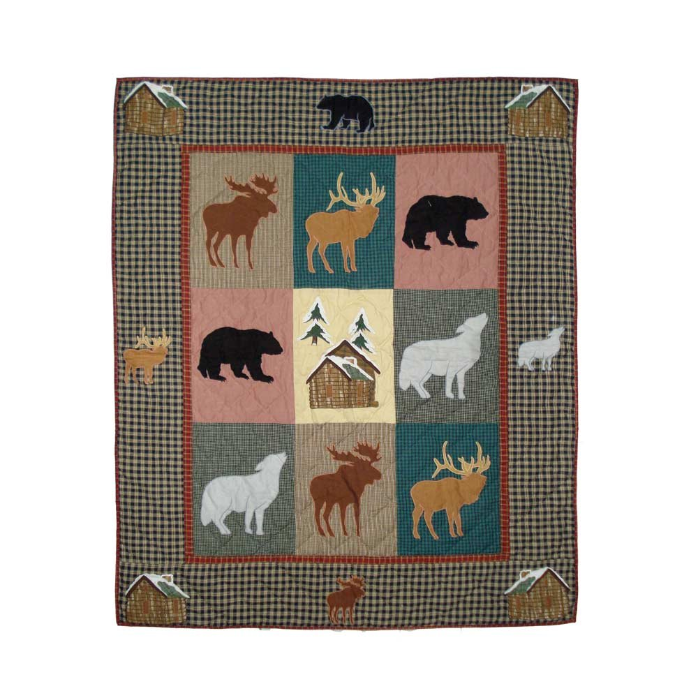Patch Magic Winter Trails Throw, 50-Inch by 60-Inch