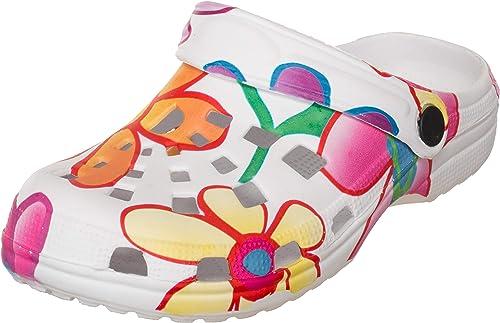 Brand sseller Mujer Zuecos/Jardín Zapatos/Zapatillas/Escarpines/Flores de impresión Diseño – Tallas: 36 – 41: Amazon.es: Zapatos y complementos
