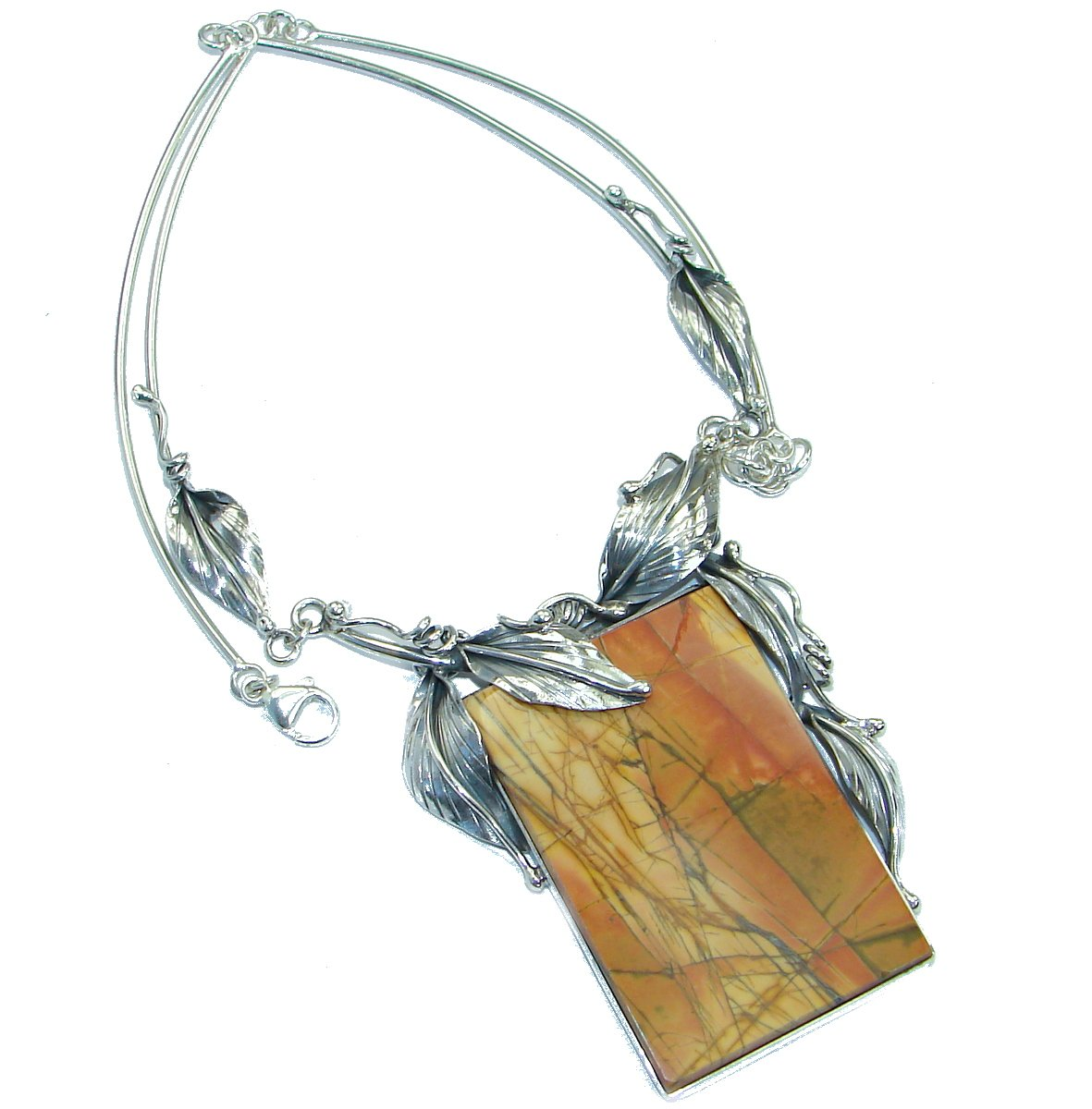 morrisonite Women 925 Sterling Silver Necklace - FREE GIFT BOX