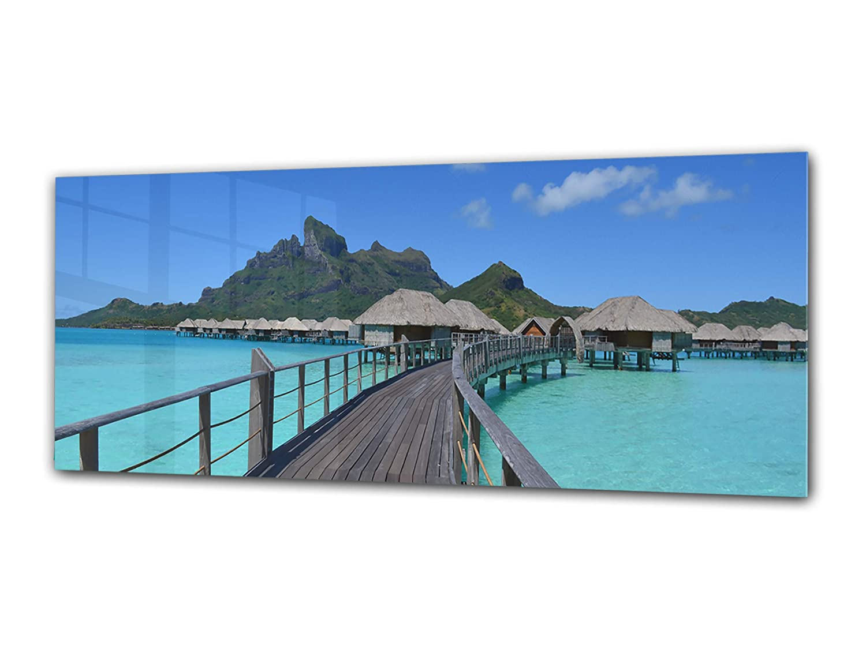 Glasbild Wandbild gehärteres Glas Kunstdruck Deko Bild auf Glas 80x30 cm Einteilig Design Nr. 90306845