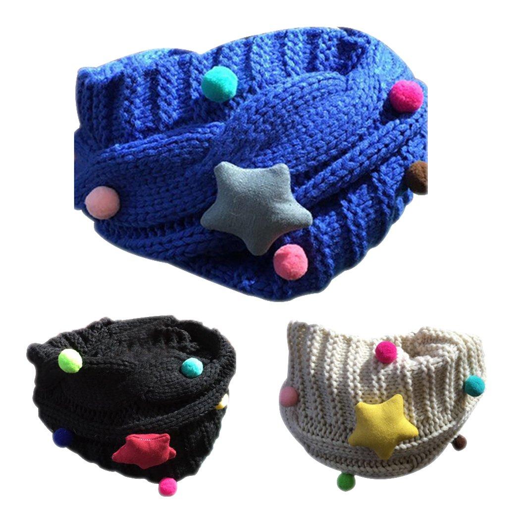 Enfants écharpe, Fascigirl 3Pcs écharpes Tricotées Hiver Laine Cercle Boucle écharpe pour les Garçons et les Filles