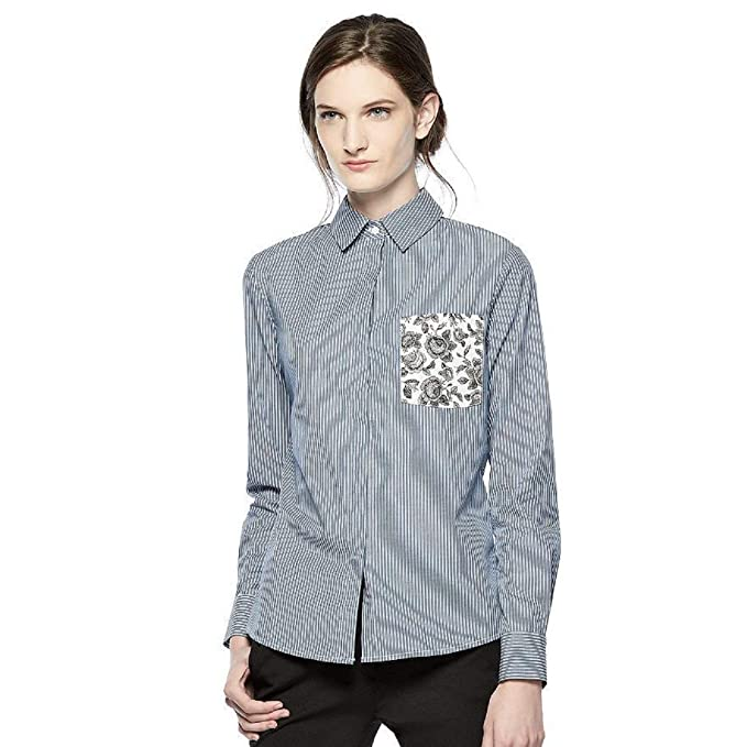 13110e23df Image Unavailable. Image not available for. Color  NWT THAKOON for Kohl s  Blue White Striped Button-Front ...