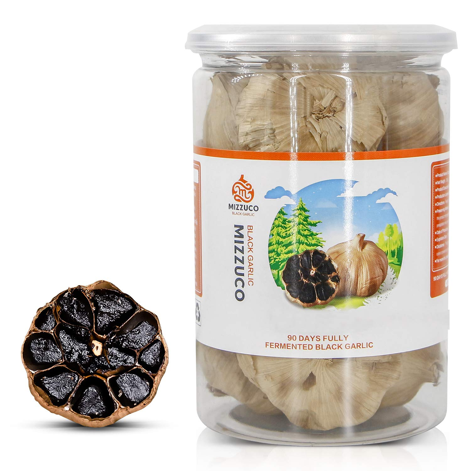Black Garlic, WHOLE Black Garlic Natural Fermented for 90 days Healthy Snack Ready to Eat or Sauce (290G)