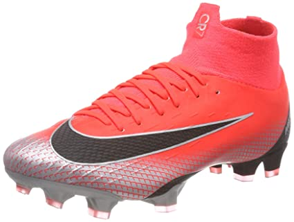 02ec34848 Amazon.com  Nike Superfly 6 Pro CR7 FG MG Soccer Cleats (Red Grey ...