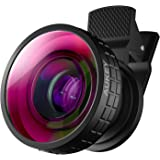 AUKEY Ora iPhone Lens, 180° Fisheye Clip-on Cell Phone Camera Lenses with Dark Circle for Samsung, Android Smartphones, iPhone