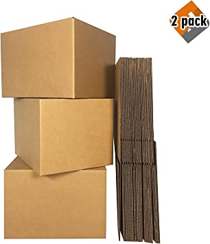 Cardboard Box BOXMINIMED10 uBoxes Medium Moving Boxes 18 x 14 x 12 inch 10 Pack