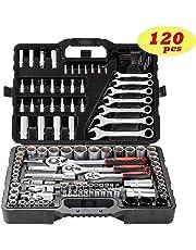 """Socket Ratchet Wrench Set External Torx Screwdriver Bit 120pcs 1/2"""" 1/4"""" 1/8"""" by Toolrock"""