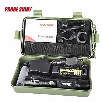 OHQ X800 Zoomable Xml T6 Led Lampe De Poche + 18650 Batterie + Chargeur + Ca