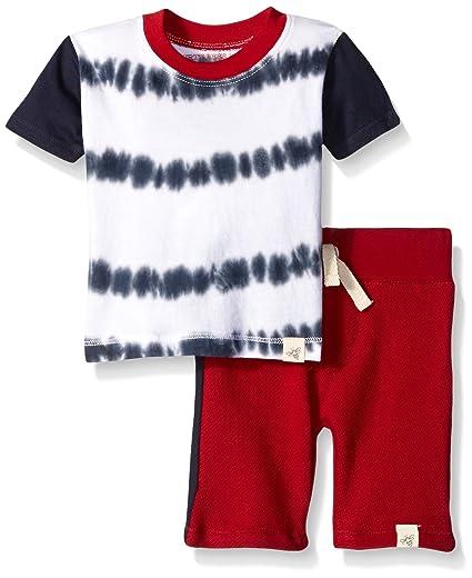 8aaccc0a9e53 Amazon.com  Burt s Bees Baby Boys  Organic Tie Dye Stripe Tee ...