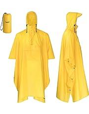 AWHA Regenponcho Unisex – der extra Lange Regenschutz mit Reißverschluss und Brusttasche
